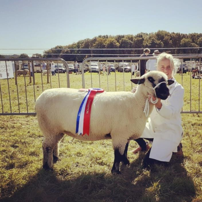 Emily Alvis with Swinbrook Tiddles - Breed Champion 2019