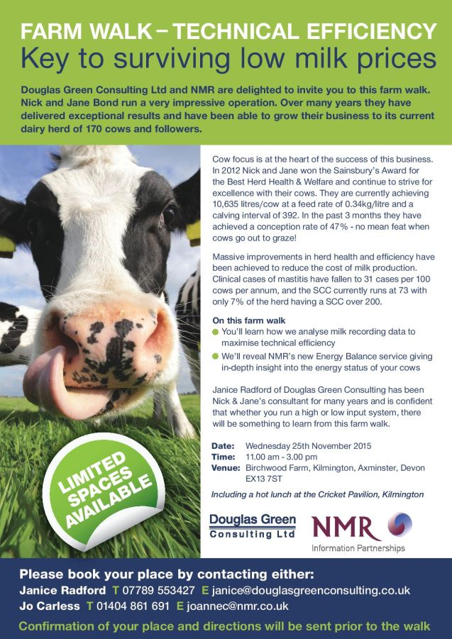 Invitation to farm event on 25th Nov at Nic Bond's