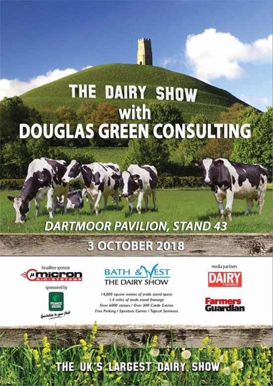 Come and see us at The Dairy Show - Dartmoor Pavilion, Stand 43